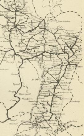 Lothringen Karte.Postorte Elsass Lothringen